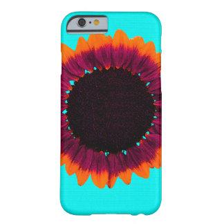Girasol artsy y abstracto del otoño funda para iPhone 6 barely there