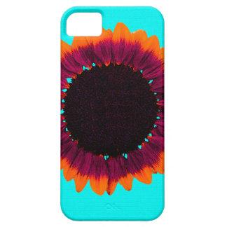 Girasol artsy y abstracto del otoño iPhone 5 cárcasa