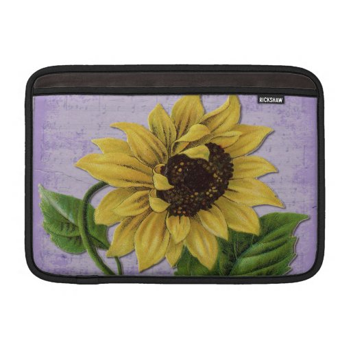 Girasol bonito en partitura funda  MacBook