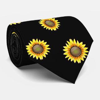 Girasol brillante soleado corbatas personalizadas