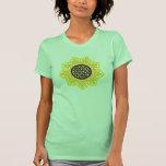 Girasol céltico camisetas