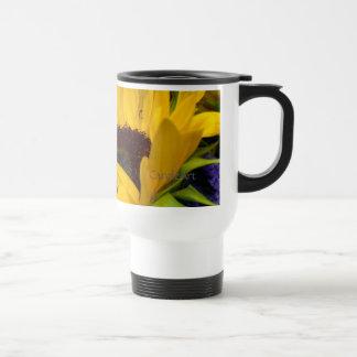Girasol comedido tazas de café