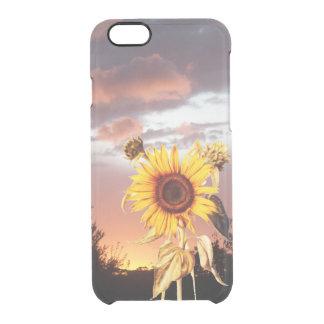 GIRASOL CON PUESTA DEL SOL DEL VERANO FUNDA CLEARLY™ DEFLECTOR PARA iPhone 6 DE UNCOMMON