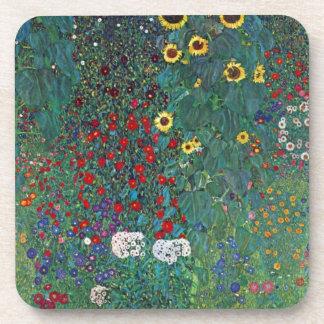 Girasol de Farmergarden Klimt flores del vintage Posavasos De Bebidas