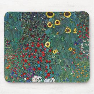 Girasol de Farmergarden Klimt flores del vintage Alfombrilla De Ratón