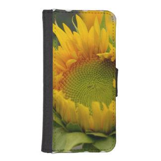 Girasol de florecimiento billetera para teléfono