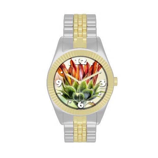 Girasol de florecimiento relojes de pulsera
