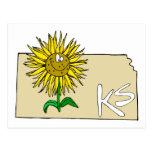 Girasol de Kansas Postales