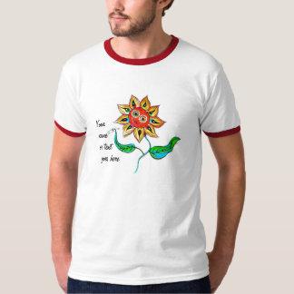 Girasol de la escritura de la camisa del campanero