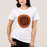 Girasol de la llama, flor anaranjada abstracta del camisetas