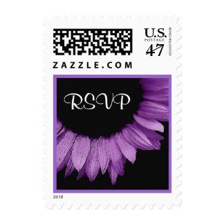 Girasol de la púrpura de la lavanda de RSVP del Sello