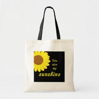 Girasol de la sol bolsa tela barata