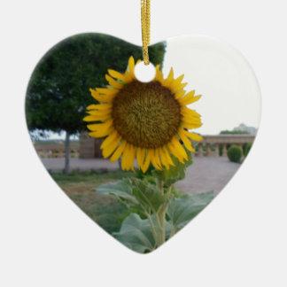 Girasol de moda retro fresco de los regalos de adorno de cerámica en forma de corazón