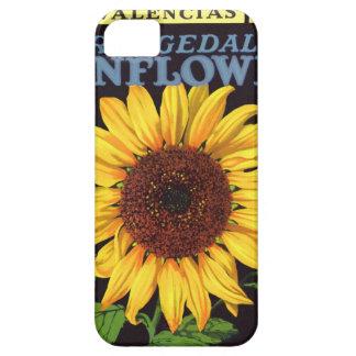 Girasol de Orangedale del arte de la etiqueta del iPhone 5 Carcasas