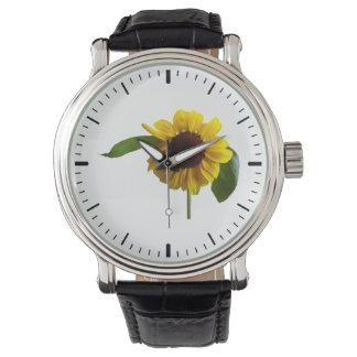 Girasol de oro reloj de mano