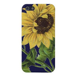 Girasol del chulo de Botanicals del vintage iPhone 5 Funda