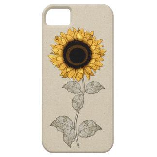 girasol del oro amarillo del vintage del iPhone 5 iPhone 5 Fundas