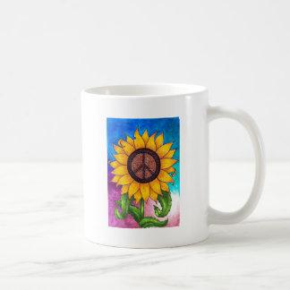 Girasol del signo de la paz # 2 taza clásica