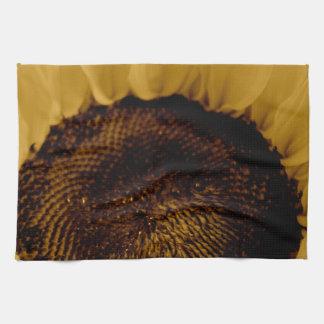 Girasol del vintage toalla