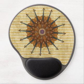 Girasol del violín en rayas de oro alfombrilla gel