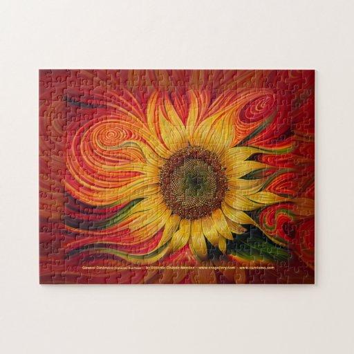 Girasol Dinámico (Dynamic Sunflower) Puzzle