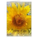 Girasol dulce del verano tarjeta de felicitación