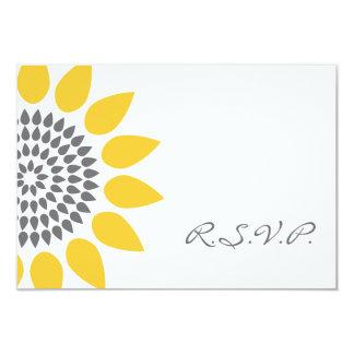 Girasol elegante RSVP Invitación 8,9 X 12,7 Cm