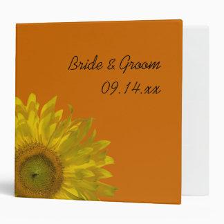 Girasol en el boda anaranjado carpeta de 2 pulgada