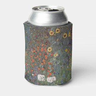 Girasol en el nouveau del arte de Gustavo Klimt Enfriador De Latas