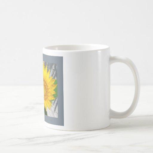 Girasol en la floración taza