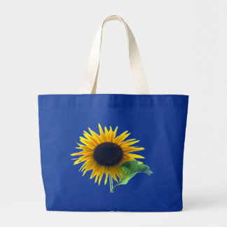 Girasol en la plena floración bolsa tela grande