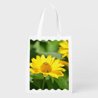 Girasol falso bonito bolsa reutilizable