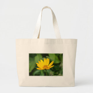 Girasol falso floreciente bolsa tela grande