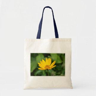 Girasol falso floreciente bolsa tela barata