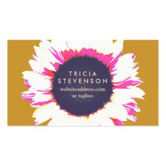 Girasol floral colorido lindo tarjetas de visita