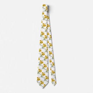 Girasol floral de la flor combinada del vintage corbata