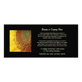 Girasol fresco y de oro plantilla de lona
