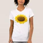Girasol, interior del corazón/camiseta de las camisetas