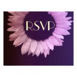 Girasol moderno púrpura rosado que casa RSVP grand Comunicados Personalizados