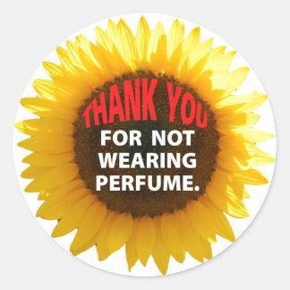Girasol ningún perfume etiquetas