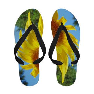 Girasol personalizado flips-flopes del verano de l chanclas de playa