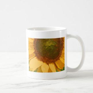 Girasol pintado taza