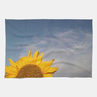 Girasol que sube como el sol toallas
