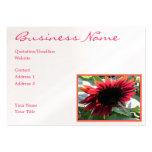 Girasol rojo grande plantilla de tarjeta de negocio