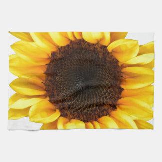 Girasol soleado toallas de mano