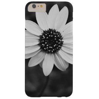 Girasol temático, una imagen blanco y negro de A S Funda Para iPhone 6 Plus Barely There
