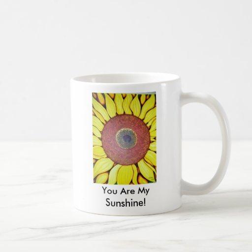 ¡Girasol, usted es mi sol! Taza De Café