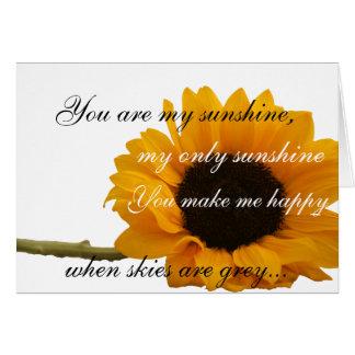 Girasol usted es mi tarjeta de la sol