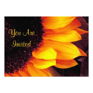 Girasol usted es tarjetas invitadas de la invitaci anuncio