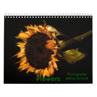 Girasol viejo, flores, fotografía Jeffrey Si… Calendarios De Pared